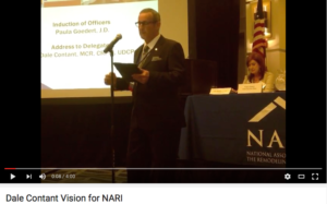 Dale Contant's Speech on his vision for NARI